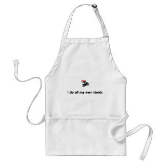Stunt Riding Hero Adult Apron