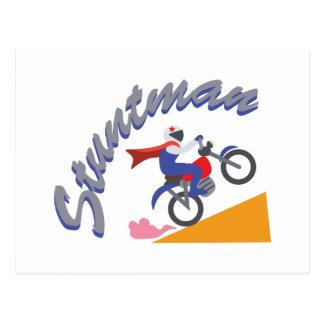 Stuntman Bike Postcard