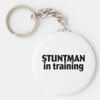 Stuntman In Training Basic Round Button Keychain