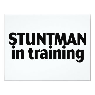 Stuntman In Training Card
