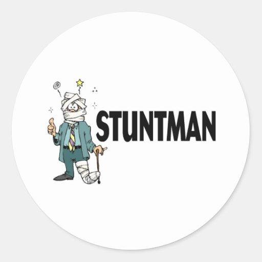 Stuntman Pegatina Redonda