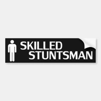Stuntsman experto pegatina para auto