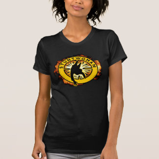 Stuntwoman Black Fitted T-Shirt