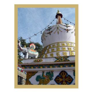 Stupa at Dalai Lama Temple Postcard