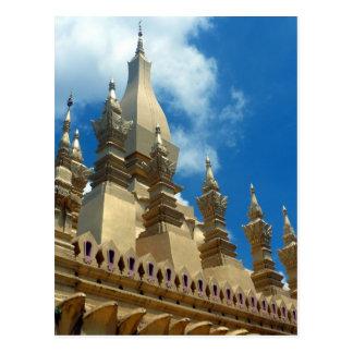 stupa golden  tops postcard