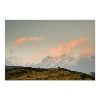 Stupa on a ridge photo print