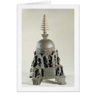 Stupa, Pala, Nalanda, Bihar (bronze) Greeting Card