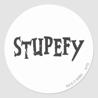 Stupefy Classic Round Sticker
