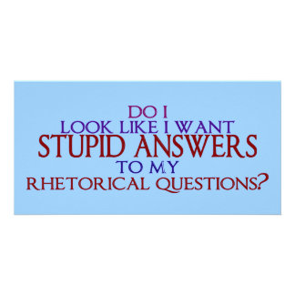 Stupid Answers to my Rhetorical Questions? Personalized Photo Card