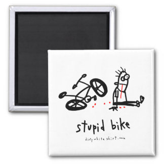 Stupid Bike 2 Inch Square Magnet