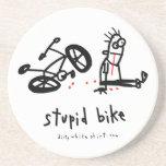 Stupid Bike Drink Coaster