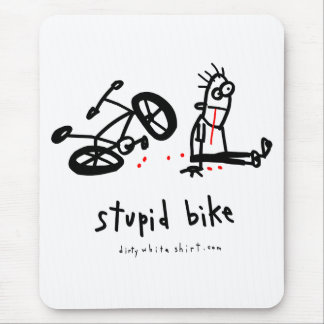 Stupid Bike Mouse Pad