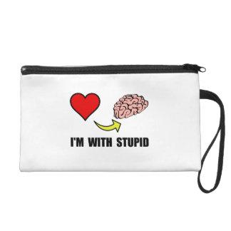Stupid Brain Wristlet Purses