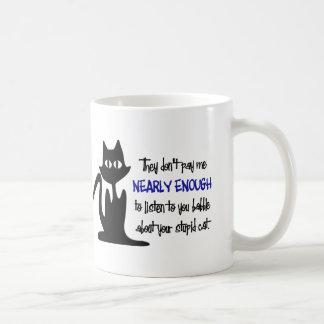 Stupid Cat - Funny Employee Design Mugs