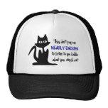 Stupid Cat - Funny Employee Design Trucker Hat