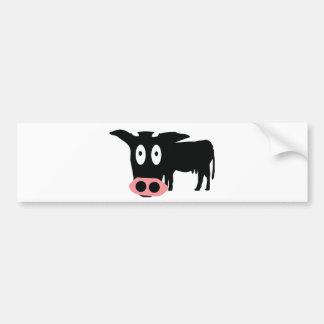 stupid cow icon car bumper sticker