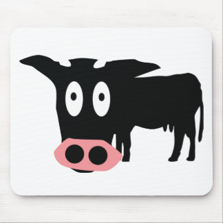 stupid cow icon mouse pad