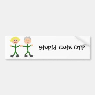 Stupid Cute OTP  Sam/Jack bumper sticker