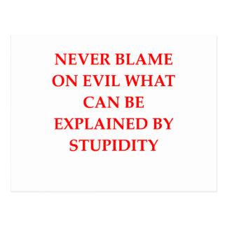 stupid evil postcard