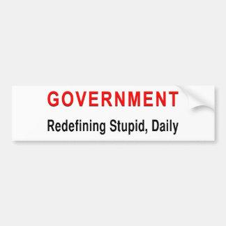 Stupid Government Bumper Sticker