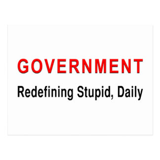 Stupid Government Postcard