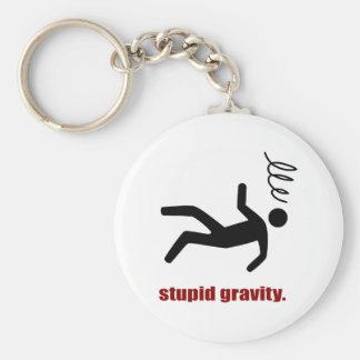 Stupid Gravity - I Do My Own Stunts Keychain
