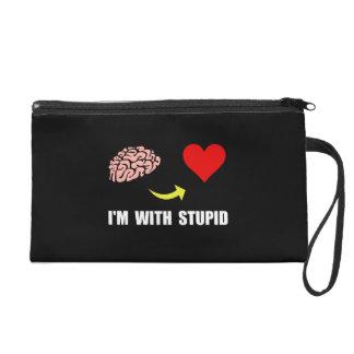 Stupid Heart Wristlet Purse