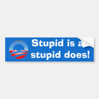 Stupid is as stupid does! car bumper sticker