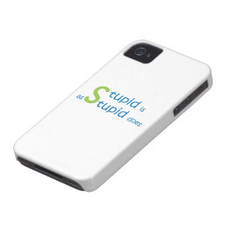 Stupid is as stupid does Case-Mate iPhone 4 case