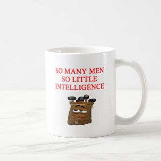 stupid men insult classic white coffee mug