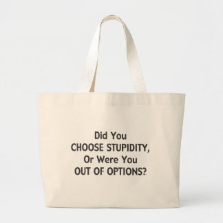 Stupid Options One Tote Bags