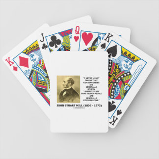 Stupid People Are Generally Conservative Quote Bicycle Playing Cards