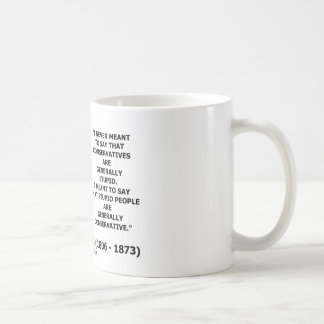 Stupid People Are Generally Conservative Quote Coffee Mug