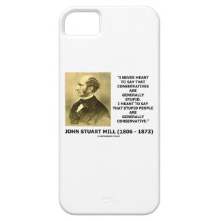 Stupid People Are Generally Conservative Quote iPhone SE/5/5s Case