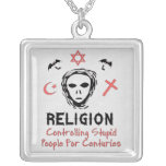 Stupid People Control Custom Necklace