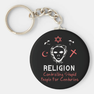 Stupid People Control Keychain