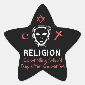Stupid People Control Star Sticker