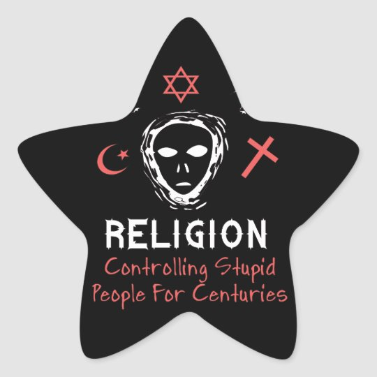 Stupid People Control Star Sticker