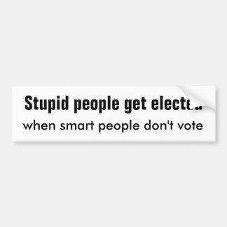Stupid People Smart People Car Bumper Sticker