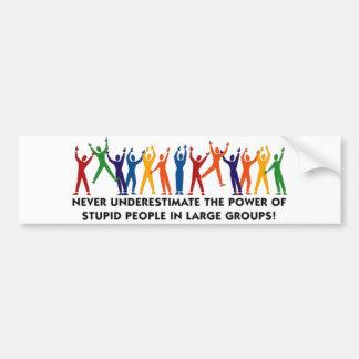 Stupid People Unite Bumper Stickers