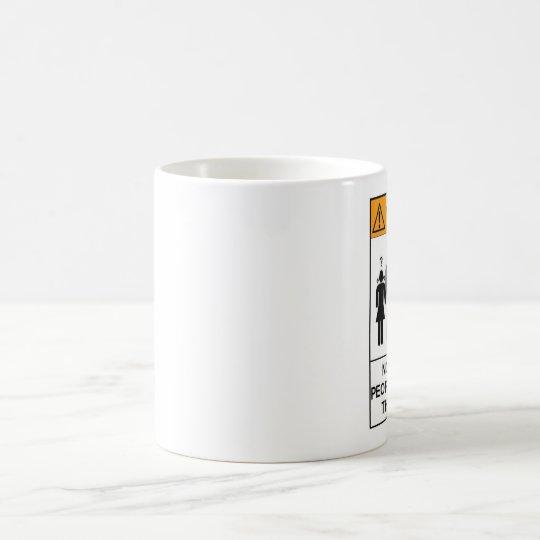 Stupid People Warning Coffee Mug