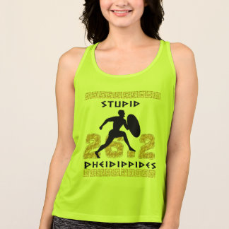Stupid Pheidippides Marathon Running All Sport Tank Top