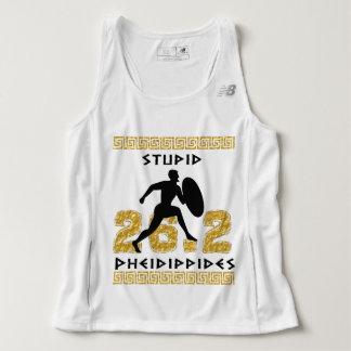 Stupid Pheidippides Marathon Running New Balance Tank Top