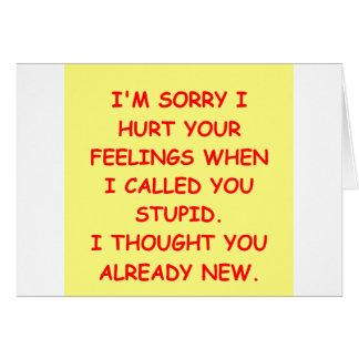 STUPID.png Greeting Card