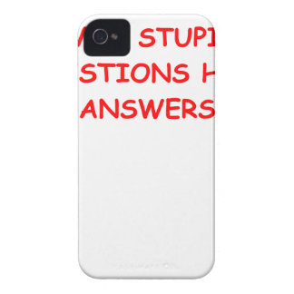 stupid question iPhone 4 Case-Mate case