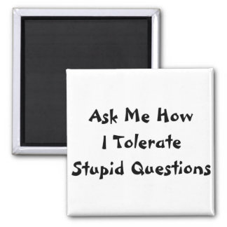 Stupid Questions 2 Inch Square Magnet