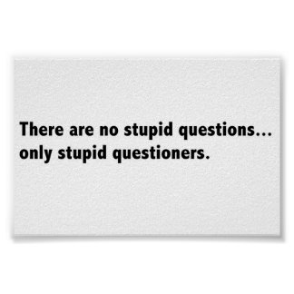 Stupid questions poster