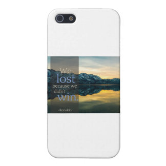 "Stupid Quotes ""We lost because we didn't win"" Case For iPhone SE/5/5s"