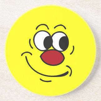 Stupid Smiley Face Grumpey Coaster