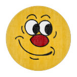 Stupid Smiley Face Grumpey Cutting Board